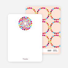 Dots Baby Shower Notecards - Multi