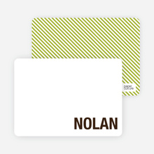Modern Minimalist Note Invitation - Espresso Brown