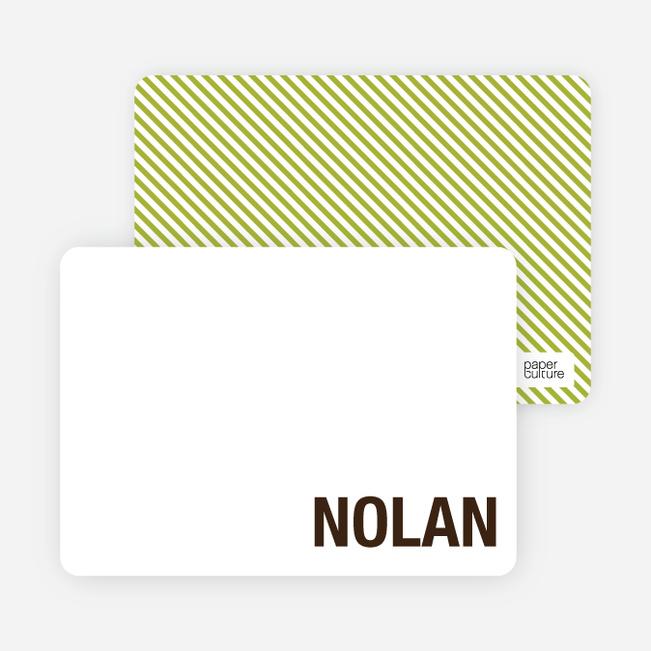 Note Cards: 'Modern Minimalist Photo Invitation' cards. - Espresso Brown