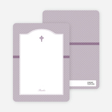 Note Cards: 'Truly Traditional Baptism Invitation' cards. - Purple