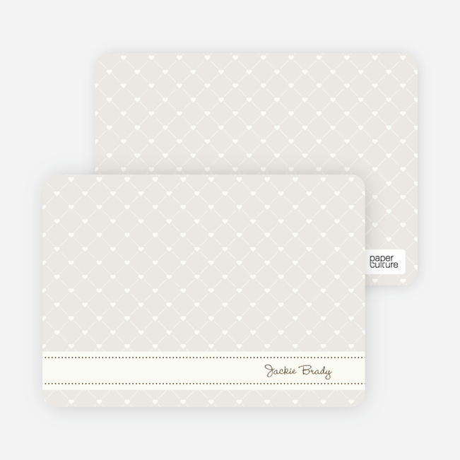 Notecards for the 'Quilted Love' cards. - Walnut