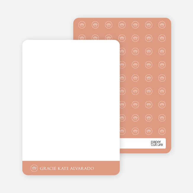 Notecards for the 'Studio Series' cards. - Reddish Pink