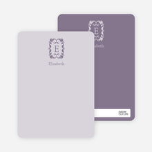 Personal Stationery: Antique Border - Lilac