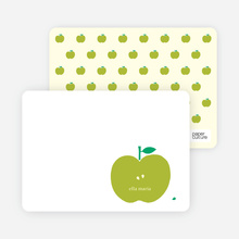 Appleseed Winks Note Cards - Chartreuse
