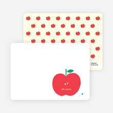 Appleseed Winks Note Cards - Tomato Red