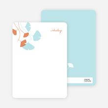 Leaving You Breathless : Personal Stationery - Aqua