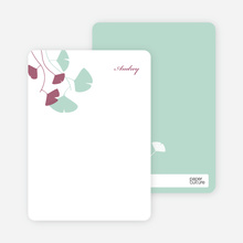 Leaving You Breathless : Personal Stationery - Mint Green