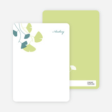 Leaving You Breathless : Personal Stationery - Pistachio