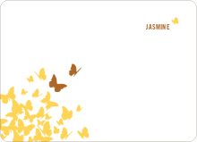 Butterfly Birthday: Personal Stationery - Bronze