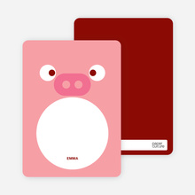Pig Face: Personal Stationery - Salmon