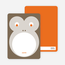 Monkey Face: Personal Stationery - Cocoa