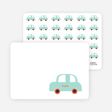 Car Baby Announcement: Personal Stationery - Mint Green