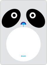 Panda Face: Personal Stationery - Light Silver