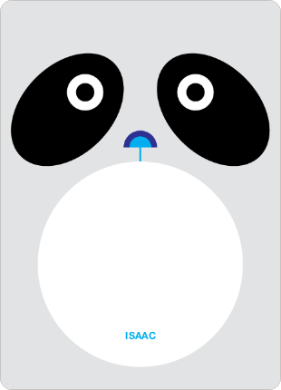 Personal Stationery for Panda Birthday Invitation - Light Silver