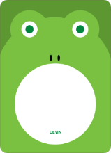 Frog Face: Personal Stationery - Shamrock