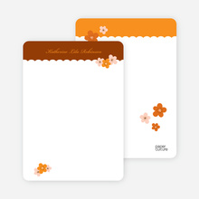 Rustic Flowers: Personal Stationery - Bronze