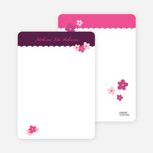 Purple Flowers: Personal Stationery - Grape
