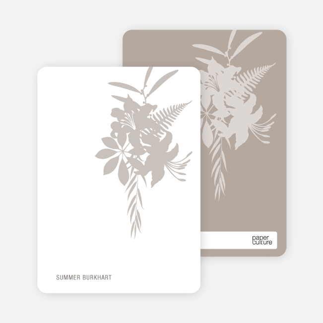 Personal Stationery for Simply Lilies Modern Party Invitation - Sand