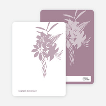 Simply Classic Lilies: Personal Stationery - Mauve