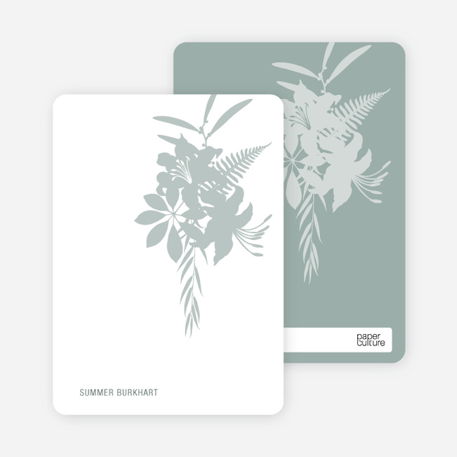 Personal Stationery for Simply Lilies Modern Party Invitation - Pale Sage