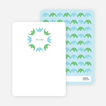 Find the Elephant: Personal Stationery - Aquamarine