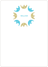 Find the Elephant: Personal Stationery - Champagne