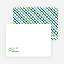 Simply Nounced: Personal Stationery - Apple Green
