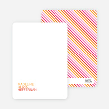 Personal Stationery for Simply Photos: 'Nounced Modern Baby Announcement - Tangerine