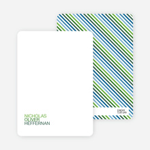 Personal Stationery for Simply Photos: 'Nounced Modern Baby Announcement - Shamrock