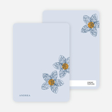 Spirograph Flower Bridal Shower Invitations: Personal Stationery - Slate Blue