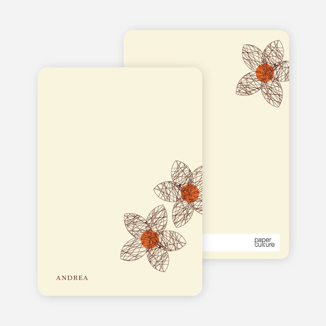 Personal Stationery for Spriograph Flowers Bridal Shower Invitations - Grape