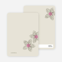 Spirograph Flower Bridal Shower Invitations: Personal Stationery - Taupe