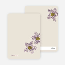 Spirograph Flower Bridal Shower Invitations: Personal Stationery - Eggplant