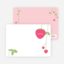 Personal Stationery for Strawberry Modern Baby Announcement - Hot Pink
