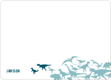 Dinosaur Birthday: Personal Stationery - Teal