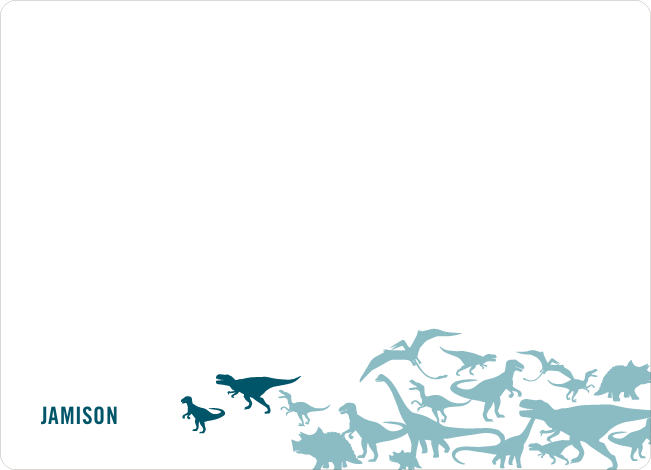Personal Stationery for Ultimate Dinosaur Invitation - Teal