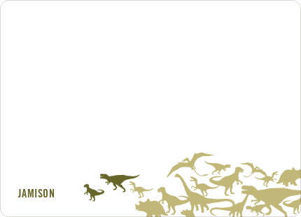 Personal Stationery for Ultimate Dinosaur Invitation - Olive