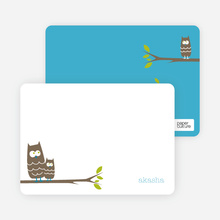 Wise Owl: Personal Stationery - White