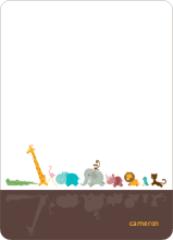 Zoo Parade: Personal Stationery - Chocolate
