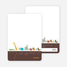Personal Stationery for Zoo Parade Modern Birthday Invitation - Chocolate