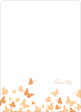Butterfly Joy Wedding Shower Note Cards - Papaya