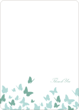 Butterfly Joy Wedding Shower Note Cards - Aqua