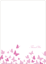 Butterfly Joy Wedding Shower Note Cards - Fuchsia