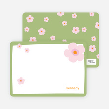 Flower Note Cards - Apple Green