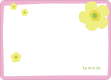 Flower Note Cards - Bubble Gum Pink