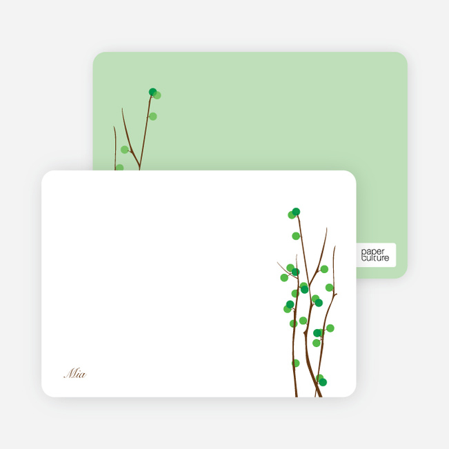Stationery: 'Holiday Berries' cards. - Kelly Green