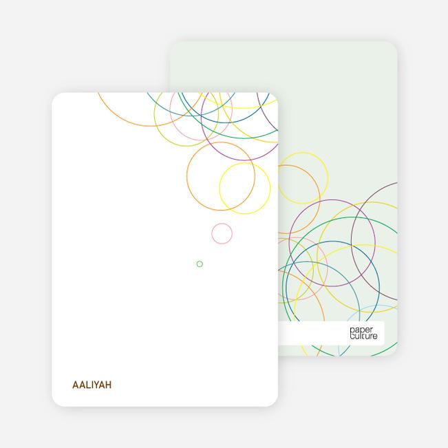 Stationery: 'Modern Circles' cards. - Multi