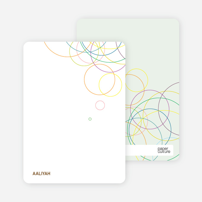 Stationery: 'Modern Circles' cards. - Multi