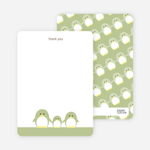Stationery: 'Penguin Family' cards. - Bamboo