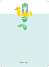 The Little Mermaid Notecard - Mint Green